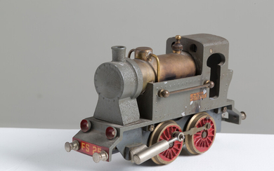 Steam train in iron and brass. GISEA