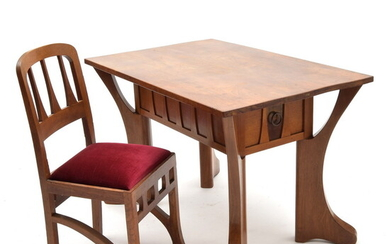 Teak wooden table and 4 chairs, design Chris Wegerif, execution...