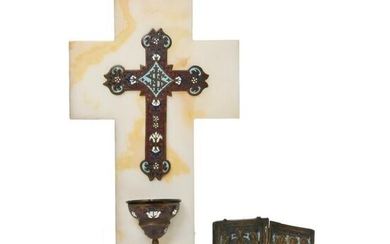 Two Eastern Orthodox Traveling Items: Diptych Icon and