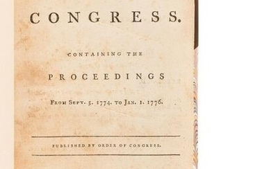 [UNITED STATES CONTINENTAL CONGRESS]. Journals of the