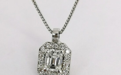 18 kt. Gold, White gold - Necklace, Necklace with pendant - 0.32 ct Diamond - Diamonds