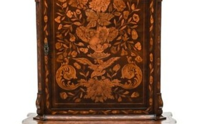 A 19TH CENTURY DUTCH MARQUETRY CABINET ON STAND