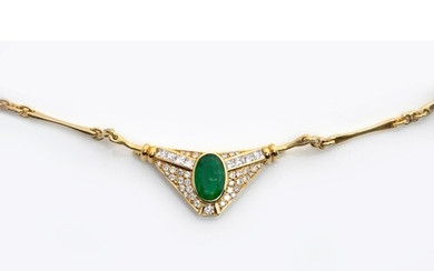 A DIAMOND AND GEM-SET NECKLACE WITH INTERCHANGEABLE CENTREPI...
