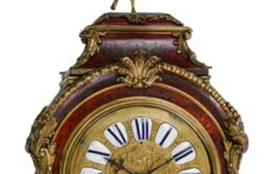 A French Régence style 'Pendule Religieuse', with Boulle marquetery, H 92 cm