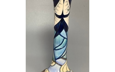 A Moorcroft pottery vase of Persian bottle form and in the '...