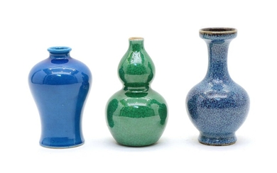 A collection of three Chinese vases