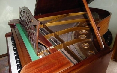 Bechstein (c1900) A 6ft 7in Model B grand piano in a mahogan...