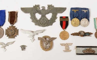 Collection of WWII German, medals, badges and awards