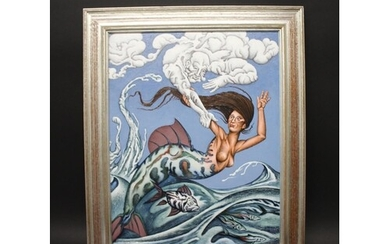 DAVID BROOKE - 'CONNECTING SEA AND SKY' signed and dated 200...