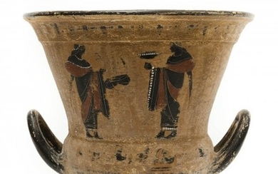 Etruscan Style 2-handled Pottery Vessel.