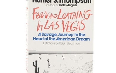 """First Edition """"Fear and Loathing with Las Vegas"""" by Hunter S. Thompson, 1971"""
