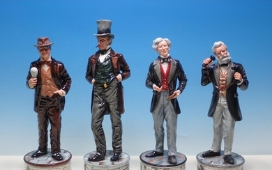 Four boxed Royal Doulton Pioneers Collection Figures, Edison...