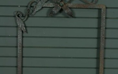 French Fer Forge Wrought Iron Naturalistic Frame