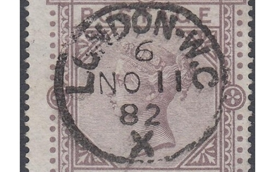 GREAT BRITAIN STAMPS 1878 £1 Brown Lilac, superb used exampl...