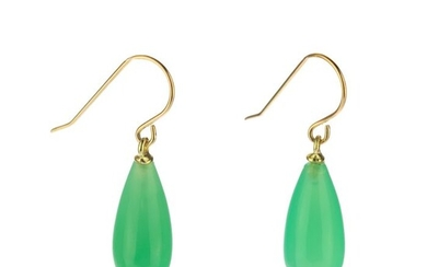 Intini Jewels - 18 kt. Gold, Yellow gold - Earrings - 5.00 ct - chrysoprase
