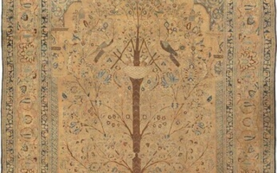 LARGE ANTIQUE PERSIAN 'TREE OF LIFE' KHORASSAN CARPET. 22 ft 2 in x 13 ft (6.76 m x 3.96 m).