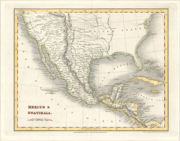 MAP, US & Mexico, Dower