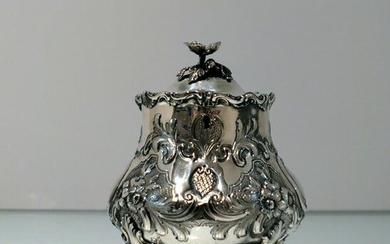 Mid 19th Century Antique Victorian Sterling Silver Tea
