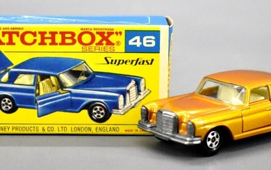 Mint Matchbox transitional Superfast opening doors 46 Mercedes 300 SE in OB