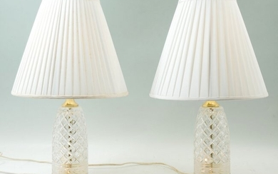 PAIR OF WATERFORD STYLE TABLE LAMPS