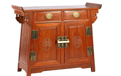 (-), Rosewood cabinet with 2 doors and 2...