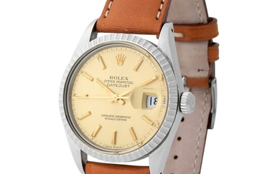 Rolex. Exceptional and Special Datejust Automatic Wristwatch in Steel, Reference 16 030, With Sweep Centre Seconds