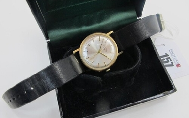 Rotary; A 9ct Gold Cased Gent's Wristwatch, the signed dial ...
