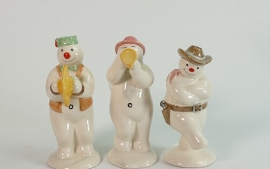 Royal Doulton snowman figures: Comprising Cymbals player DS1...