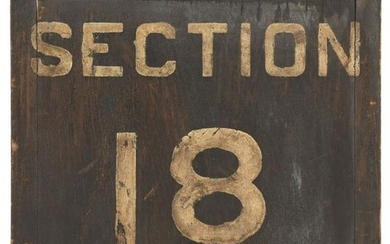 SECTION 18 & 19 HAND PAINTED WOODEN TRAIN PLATFORM
