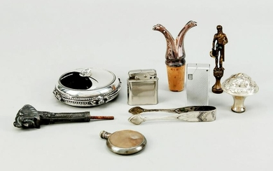 Set of nine pieces, 20th c., silver
