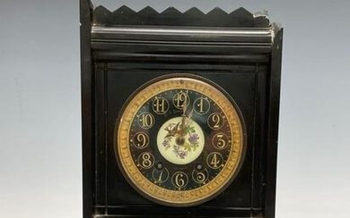 19th c. French Slate Mantle Clock - M S Smith & Co