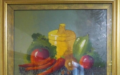20th CENTURY CONTINENTAL SCHOOL 'Still Life', oil on board, ...