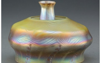 79058: Tiffany Studios Favrile Glass Lamp Shade and Chi