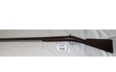 A 19th Century percussion rifle, complete with rod. (No cert...