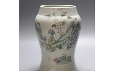 A Chinese porcelain baluster jar, early 20th century, painte...