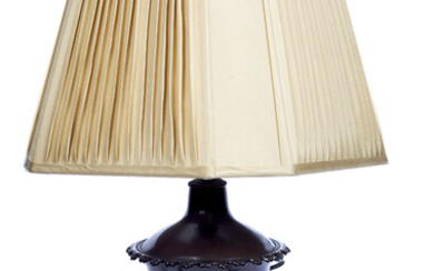A Continental lacquered metal samovar converted to a table lamp...