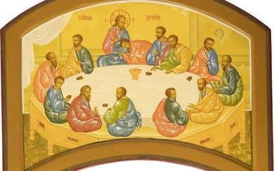 A LARGE ICON THE LAST SUPPER