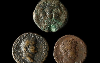 A Roman Republican As and Two Imperial Bronzes