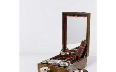 A french silver mounted dressing case, XIXth century H