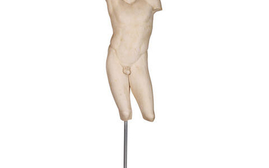 After the Antique - workshop of Silvano Bertolin (Italian, b. 1938): A late 20th century cast marble resin model of 'The Lysias torso'