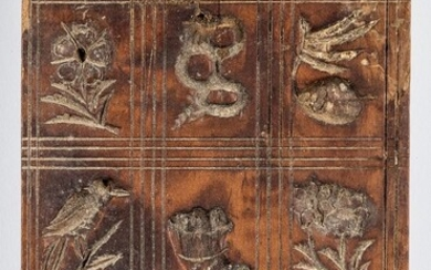 Carved maple springerle board, 19th c.