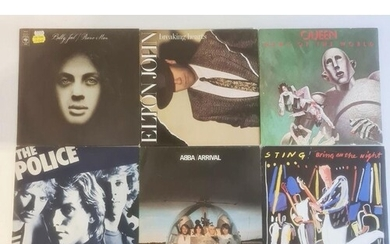 Collection of mainly 1980's vinyl LP's including The Police ...
