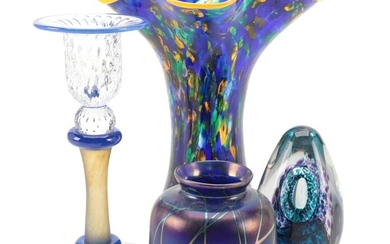 Glass Eye Confetti Glass Ruffle Vase and Other Studio Glass Pieces
