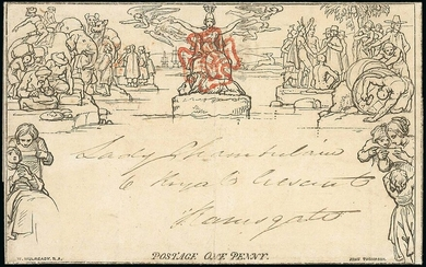 Great Britain 1840 Mulready May Dates 10 May, 1d. A54 lettersheet, used on the first Sunday of...