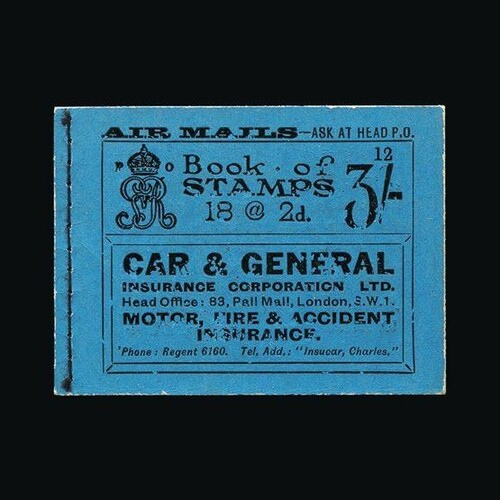 Great Britain - Booklets : (SG BB21) 1921 3s booklet, editio...