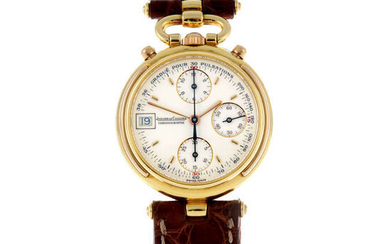 JAEGER-LECOULTRE - a mid-size 18ct yellow gold Gaia chronograph wrist watch.