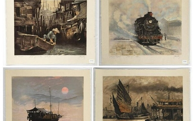 John Kelly, Four Lithographs from the China Suite