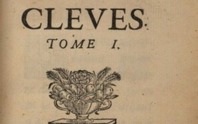 LA FAYETTE (Madame de). The Princess of Cleves. In Paris, by Claude Barbin, 1678. Four volumes in 2 vols. in-12, lemon morocco, spine with 5 nerves underlined by a gilt stippling, title and tomaison gilt, boxes decorated with small irons, triple...