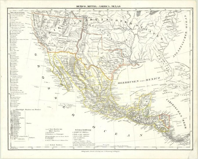 MAP, US & Mexico, Flemming