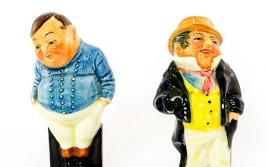 Pair of Royal Doulton Figurines, Fat Boy and Captain